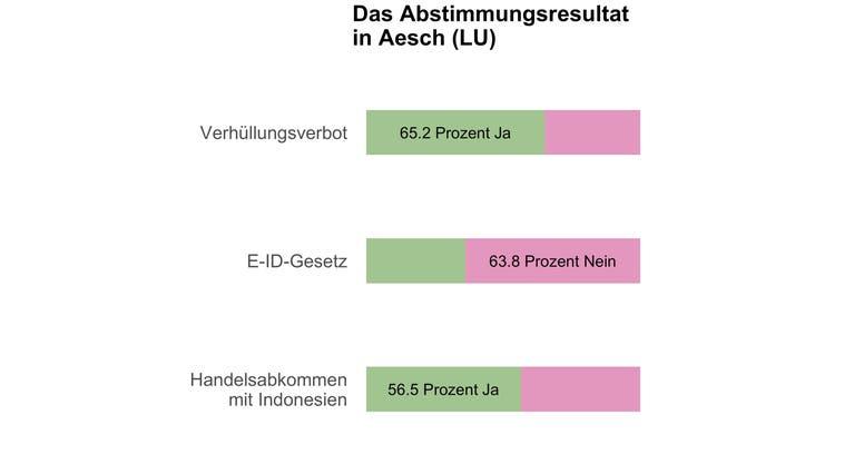 Deutliches Ja in Aesch (LU) zum Burkaverbot