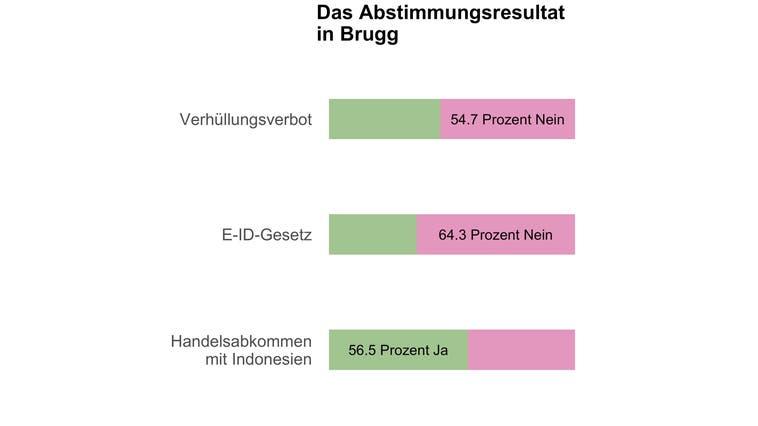 Eine Mehrheit in Brugg lehnt das Burkaverbot ab