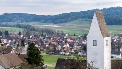 Die Gemeinde Thundorf mit Kirchberg im Vordergrund. (Bild: Reto Martin (Thundorf,31. Januar 2018))