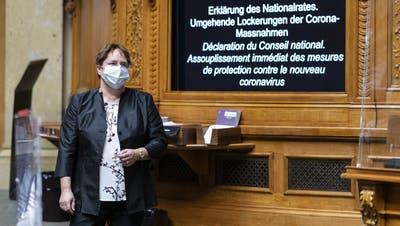 Eine Minderheit bestimme über die Mehrheit ohne richterliche Kontrolle: Das findet SVP-Nationalrätin Magdalena Martullo-Blocher. (Alessandro della Valle/Key (Bern, 3. März 2021))