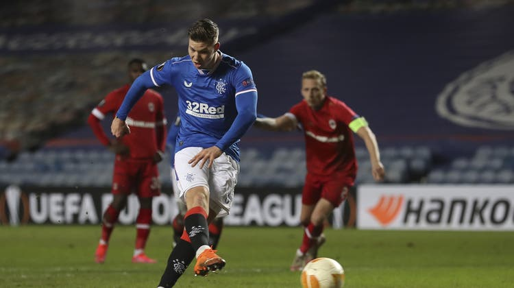 Im Europacup erfolgreich gegen Royal Antwerpen: Cedric Itten (Bild: Ian Mcnicol/EPA)