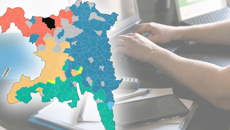 Arbeiten in Ihrer Gemeinde mehr Zürcher oder Solothurner? Und wo arbeiten die Aargauer? Die Pendler-Karte zeigt es