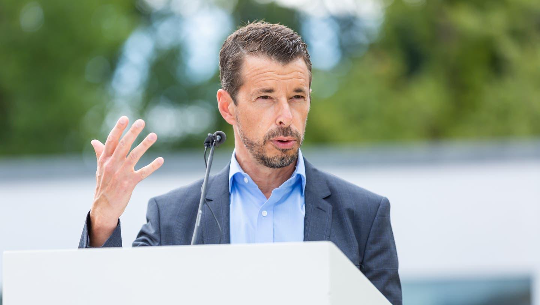 Georg Matter, Leiter Abteilung Kultur an einer Pressekonferenz Kulturkanton Aargau. (Archivbild) (Fabio Baranzini)