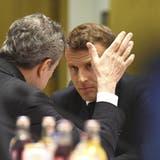EU-Gipfel Juni 2019: Emmanuel Macron spricht mit Draghi, damalsPräsident der Europäischen Zentralbank. (Keystone)