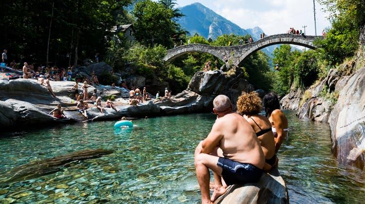 Letztes Jahr erfreute sich das Verzascatal grosser Beliebtheit bei Touristen. (Keystone)