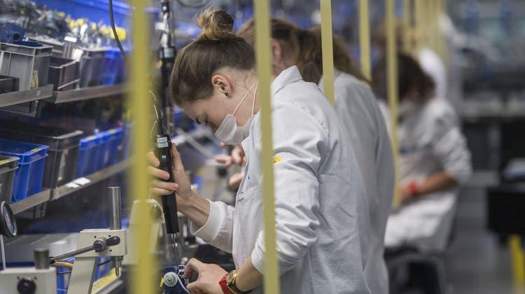 Die Industrie ist nach der Coronapandemie auf dem Weg der Erholung. (Keystone)