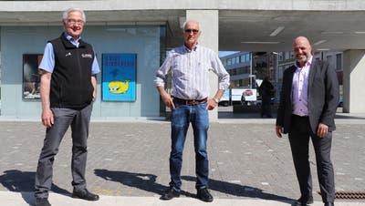 Präsident Gewerbeverein Windischplus Jörg Wüst (von links), OK-Präsident Urs Keller und Präsident Gewerbeverein Brugg Didi Berger. (Bild: Maja Reznicek)