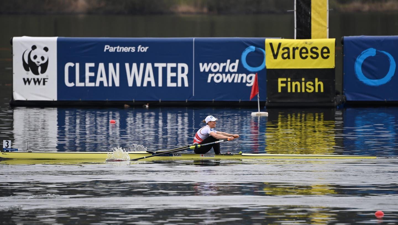 Jeannine Gmelin überquert die Ziellinie als Dritte und kann sich die Bronzemedaille sichern. (Freshfocus)