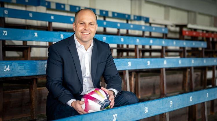Samuel Scheidegger, von 2014 bis 2020 Präsident FC Solothurn, seit Ende 2020 Co-Präsidium mit Marc Kalousek. Und jetzt neuer Präsident der Ersten Liga. (Michel Lüthi)