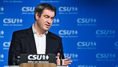 Will Kanzler werden und riskiert damit offenen Streit mit der CDU: Bayerns Ministerpräsident und CSU-Chef Markus Söder. (Lukas Barth-Tuttas / Pool / EPA POOL)
