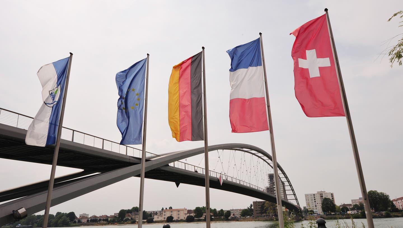 Die Dreiländerbrücke zwischen Frankreich, Deutschland und der Schweiz. (Archivbild: Nicole Nars-Zimmer)