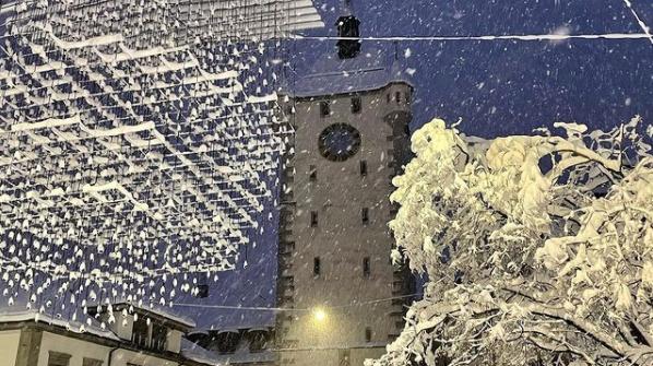 Die Altstadt in Baden im Winterkleid. (Bilder: ZVG)