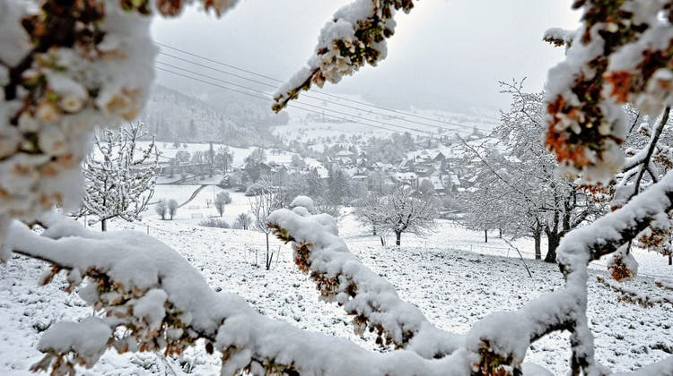 Der April macht, was er will: Im Oberbaselbiet lag heute Morgen ordentlich Schnee