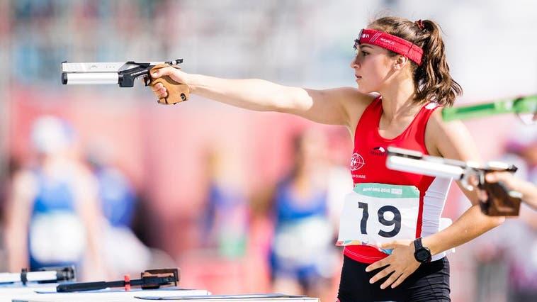 Anna Jurt läuft beim Final des Weltcups in Budapest auf den 13. Rang. (Bild:Virág Buza/ UIPM)