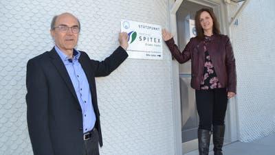 Reinhard Oberholzer, Aktuar des Vereins Spitex Gams, und Claire-Lise Lippuner, Präsidentin Spitex Grabs (von links). (Bilder: Adi Lippuner)