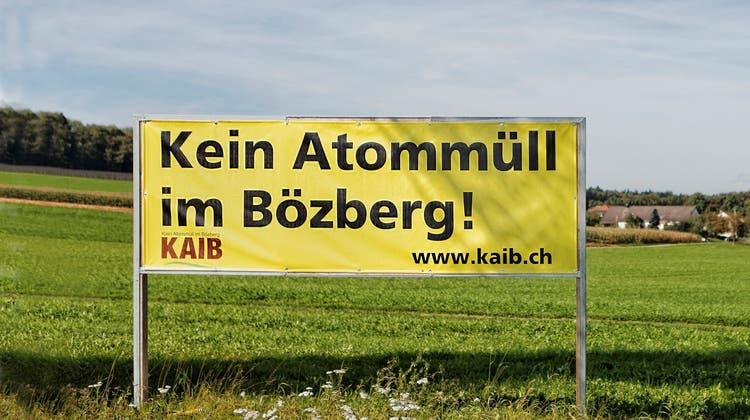 Für die Bürgerorganisation Kaib (Kein Atommüll im Bözberg) ist ein Atommülltiefenlagerim Bözberg, «einem geologisch fragwürdigen, wasserreichenGebiet», keine gute Idee. (Bild: zvg/Kaib)