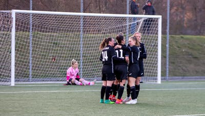 Die Red Boots Aarau gewinnen auch das zweite Meisterschafts-Spiel im Jahr 2021 (zvg)