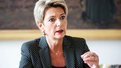 «Der Terrorismus ist ein Angriff auf den Rechtsstaat und seine Institutionen», sagt Justizministerin Karin Keller-Sutter. Es sei die Aufgabe der Schweiz, die Bürgerinnen und Bürger zu schützen. (Britta Gut (Bern, 6. Oktober 2020))