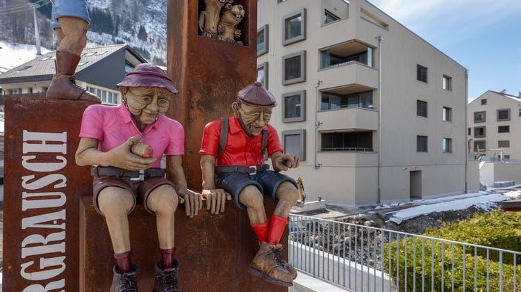 In der Siedlung Bergrauschin Emmetten werden in diesen Tagen die letzten Wohnungen bezogen. (Bild: PD)