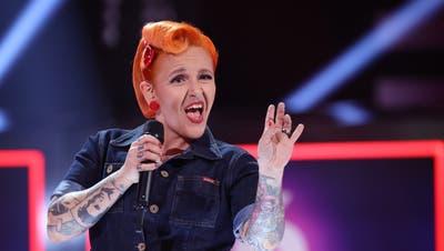 Mary Vogel bei den Aufzeichnungen der RTL-Show «I Can See Your Voice». (Tvnow / Frank W. Hempel)
