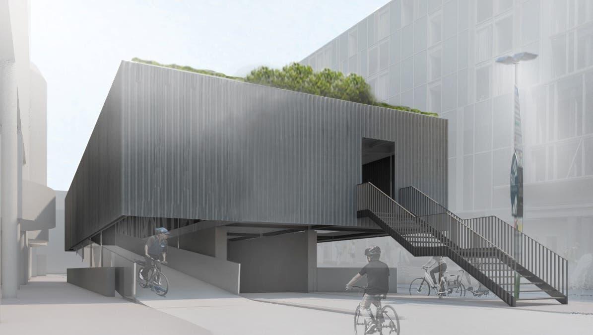 Visualisierung neue Velostation Ring am Bahnhof (Zvg)