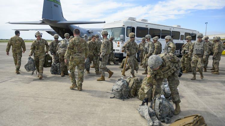 Bis Mitte September sollen die US-Truppen abgezogen sein. (Keystone)