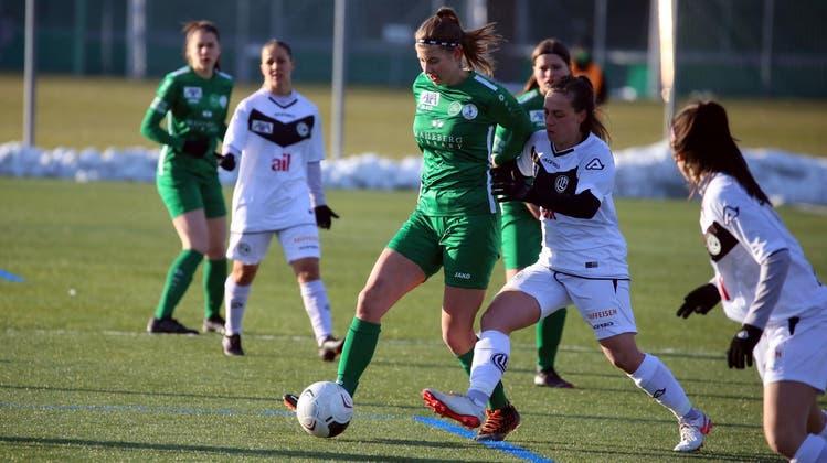 Zwei Siege für die St.Gallerinnen gab's 2021 bei zwei Begegnungen des FC St.Gallen-Staad mit dem FC Lugano Femminile. Am Samstag treffen die beiden Teams zum dritten Mal aufeinander, diesmal im Tessin. (Bild: Podo Gessner)