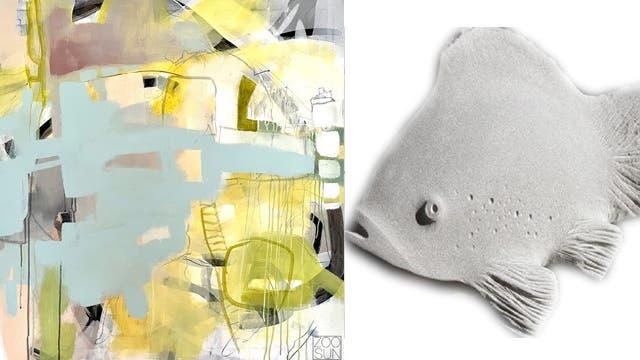 Frühlingshafte Bilder und Skulpturen in Galerie und Garten unter dem Ausstellungsmotto«Frühling-Im Flow». (Bild: PD)