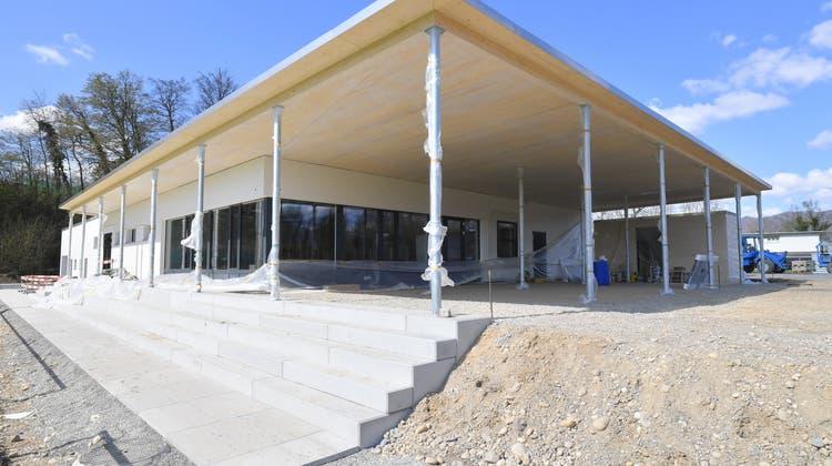 Der FC Dulliken nutzt sein neues Clubhaus seit vergangenem Winter. (Bruno Kissling)