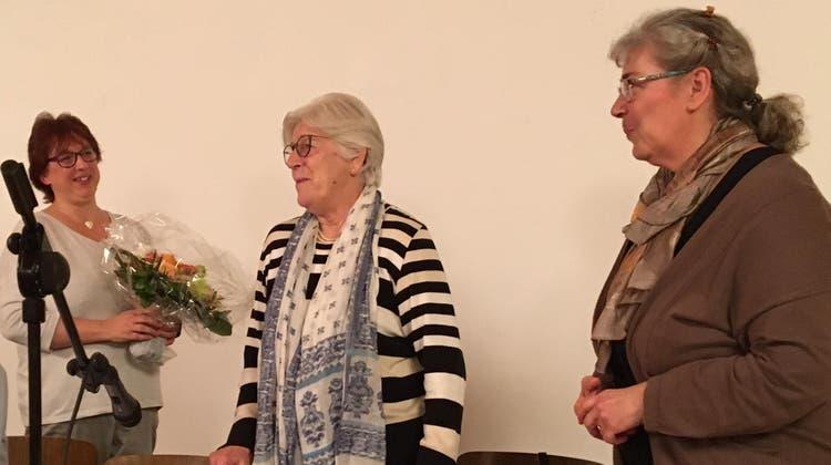 Der Vorstand der Frauengemeinschaft mit Petra Müller, Elisabeth Gemperle und Elisabeth Zmoos (v.l.). (Jacqueline Keller Werder)