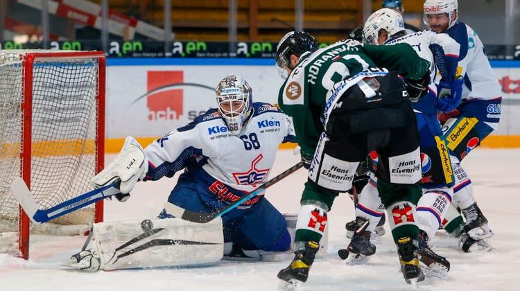 Stanislav Horansky und der EHC Olten wollen gegen Kloten den dritten Sieg in Serie einfahren und damit die Halbfinalserie ausgleichen. (freshfocus)