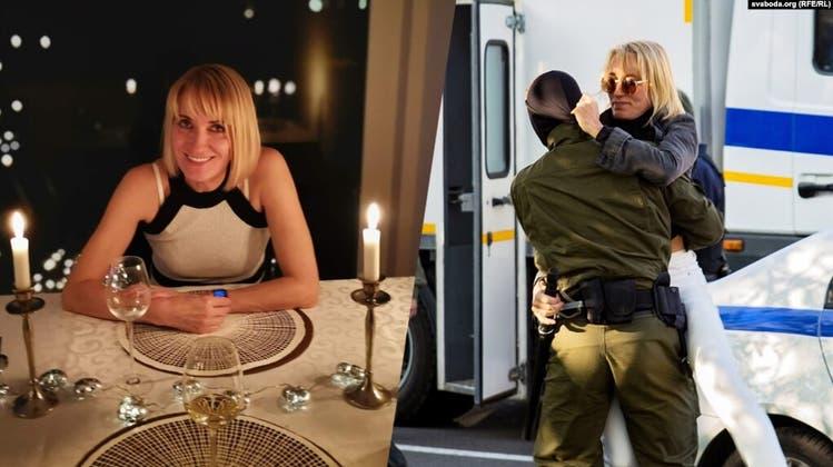 Natallia Hersche: Die St. Gallerin wurde im September 2020 bei einer Demonstration in Minsk verhaftet. Seither sitzt sie hinter Gittern. (svaboda.org)