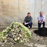Stefan und Hansjörg Grob möchten eine Biogasanlage bauen, welche Grünabfälle in nutzbare Energie undKompost umwandeln kann. (Bild: PD)