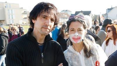 «Das wollen wir in Wettingen nicht sehen»: Bild vom Protestmarsch des Vereins «Stiller Protest» gegen die Corona-Massnahmen am 20. Februar 2021 in Wohlen. (Andre Albrecht)