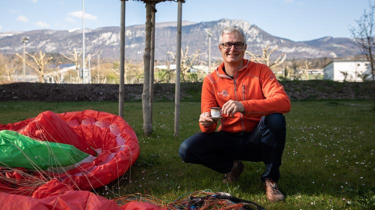 Mit dem Weissenstein hat er ein Gleitschirm-Paradies vor der Haustür: Urs Frei aus Zuchwil. (Tom Ulrich)