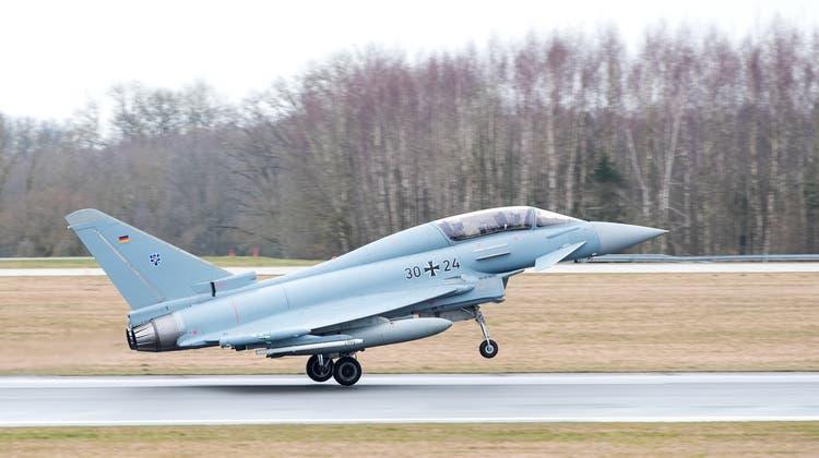 Steht auch in der Schweiz zur Diskussion: Der Eurofighter von Hersteller Airbus.