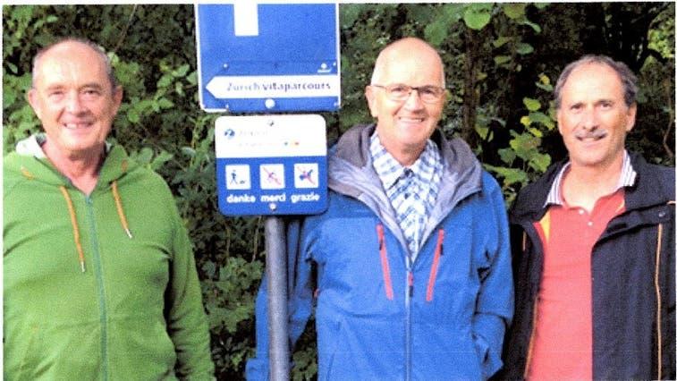 Von links:Hans Bissig, Ernst Bissig und George Imhof. (Bild: PD)