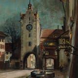 «Nächtliches Diessenhofen» von Fritz Preisig. (Bild: PD)