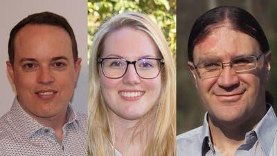 Wollen in den Birmensdorfer Gemeinderat: Patrick Vogel (FDP), Anja Fenner-Zimmermann und Dominik Mahrer (beide parteilos). (Bilder: zvg)