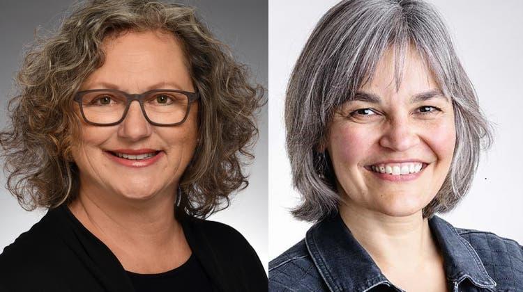 Die SP hat Rita Boeck (links) und Alexandra Dahinden für die Stadtratswahlen nominiert. (Bild: zvg)