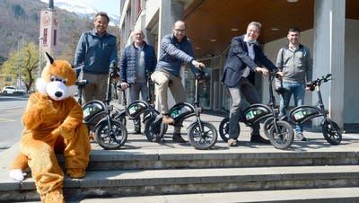 Mit den «Flott Bikes» flott in der Stadt Buchs unterwegs