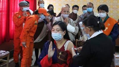 Bhutan hat in 13 Tagen 94 Prozent der Bevölkerung geimpft. (Keystone)