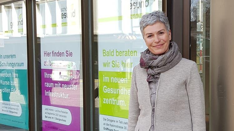 Susanne Werder eröffnet in Aarau ein neues Gesundheitszentrum in der Igelweid. (Nadja Rohner)