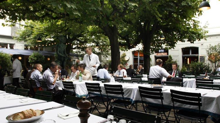 Das Restaurant Kunsthalle öffnet nächste Woche wieder draussen. (Georgios Kefalas/Keystone)