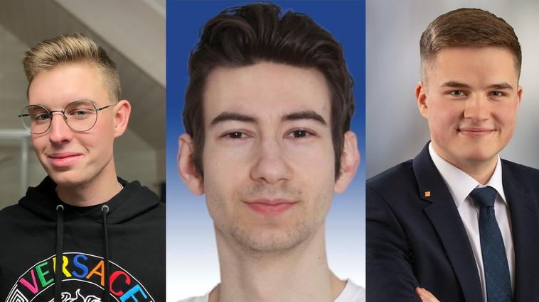 Pascal Sägesser, Simon Hafner und Marius Winistörfer (von links nach rechts) haben den gleichen Jahrgang und alle drei wollen Gemeinderäte werden. (zvg)