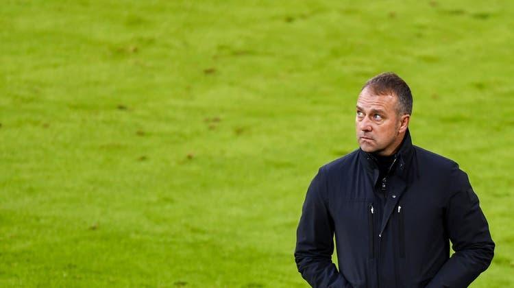 «Ich habe den Verein informiert, dass ich aus meinem Vertrag raus möchte»: Hansi Flick ist bei den Bayern auf Abschiedstournee. (Lukas Barth / Pool / EPA)