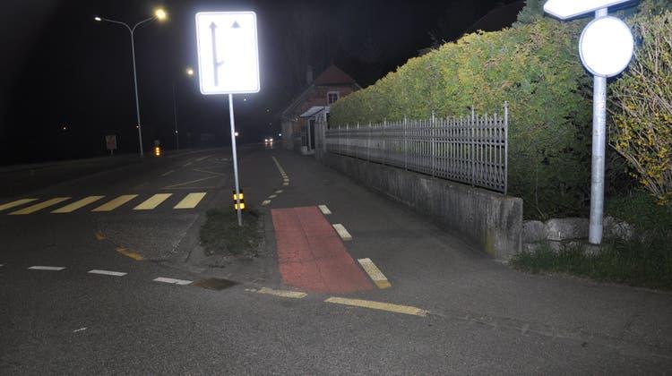 Hier ereignete sich die Kollision zwischen Velo und PKW. (Polizei Kanton Solothurn)