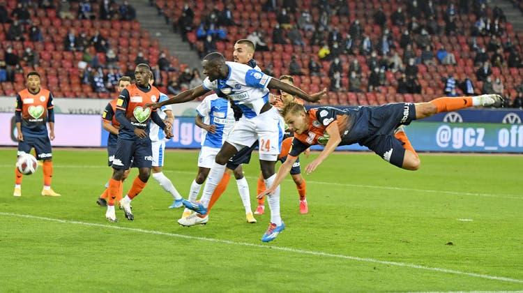 Nächster Sturzflug für den FC Wil im Auswärtsspiel gegen GC? (Bild: Keystone)