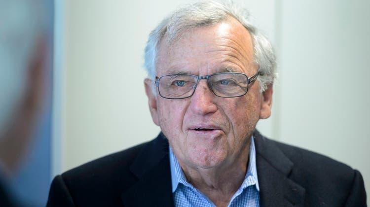 Hansjörg Wyss will nicht mehr weiter um die Firma Tribune Publishing bieten. (Keystone)
