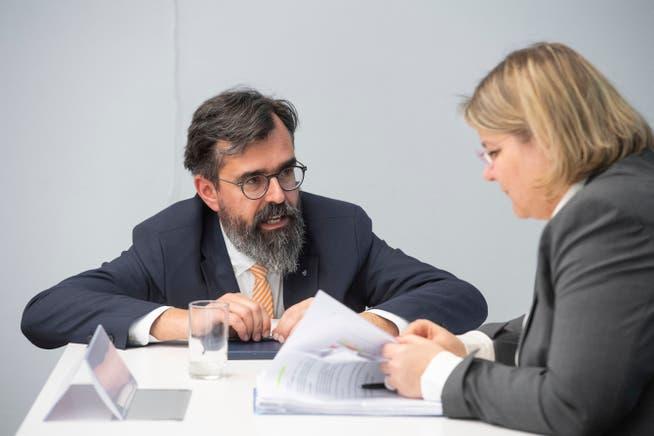 In der ersten Welle arbeiteten Dieter Wicki, Leiter Abteilung Militär und Bevölkerungsschutz, und Kantonsärztin Yvonne Hummel eng zusammen.